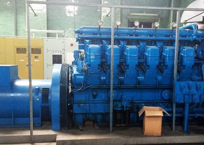 Pic showing generator plant in place alongside other machinery