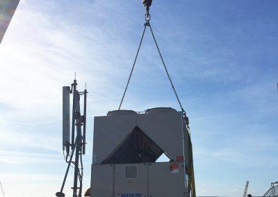 Industrial chiller unit lift